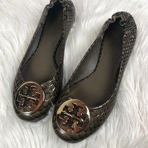 Tory Burch Reva Snakeskin leather ballet flat
